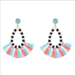 Baublebar Sandbar Tassel & Stone Hoop Earrings